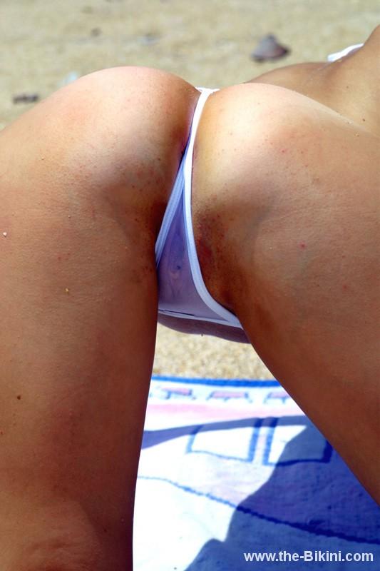 Wet sheer micro bikini