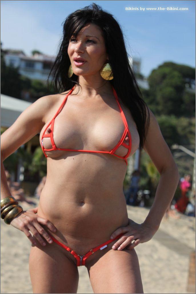 the bikini photos swin p ex zip orange bikini002