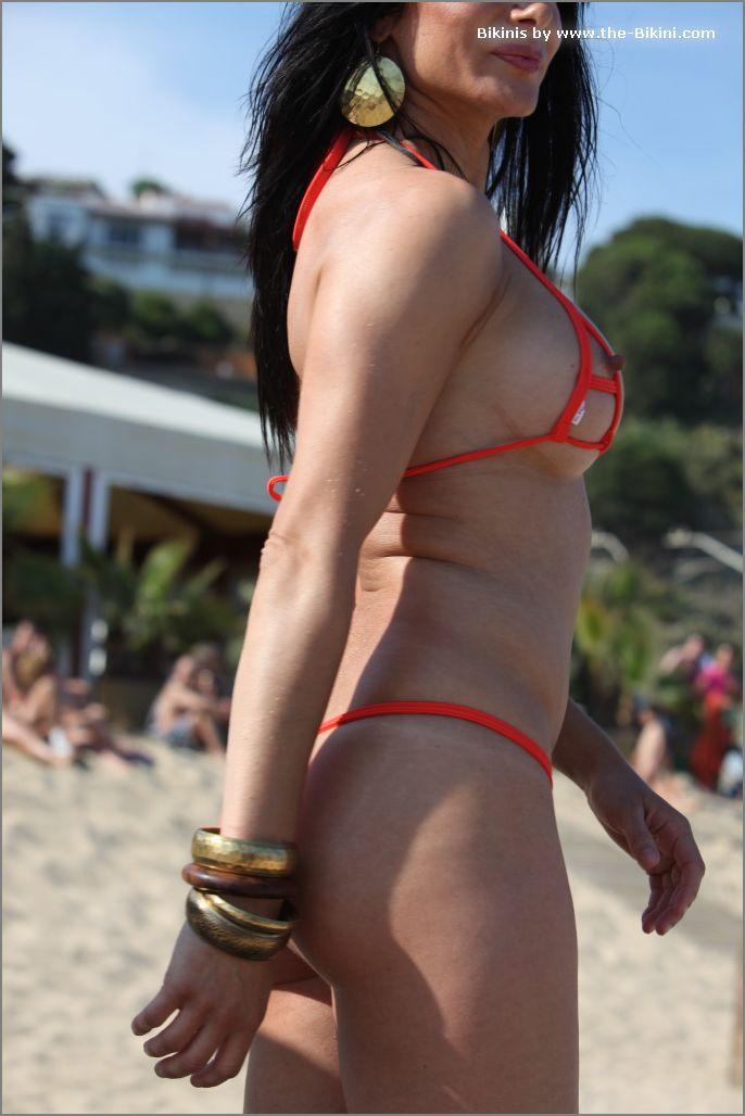 the bikini photos swin p ex zip orange bikini004