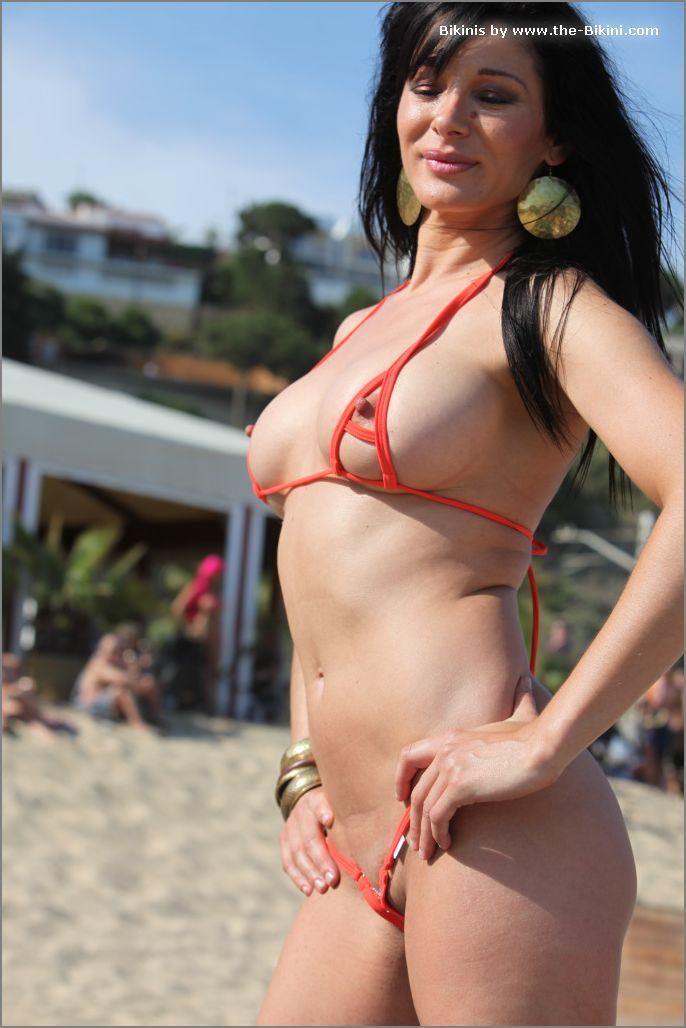 the bikini photos swin p ex zip orange bikini007