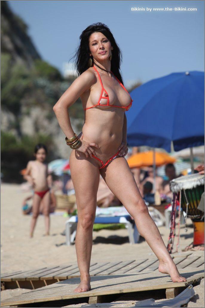 the bikini photos swin p ex zip orange bikini008