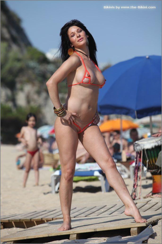 the bikini photos swin p ex zip orange bikini009