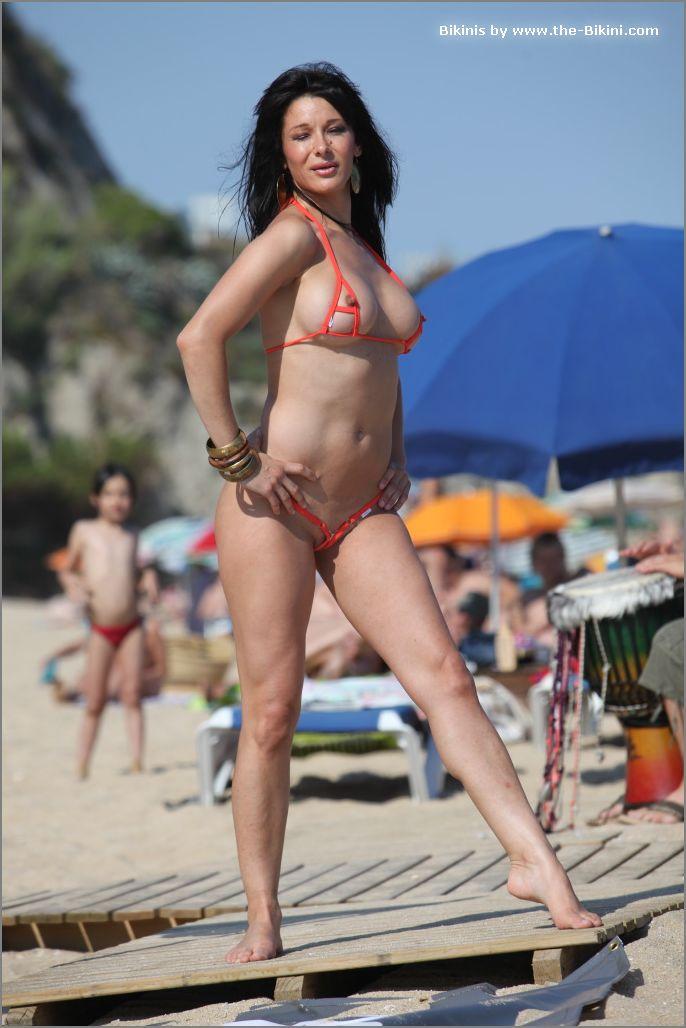 the bikini photos swin p ex zip orange bikini010