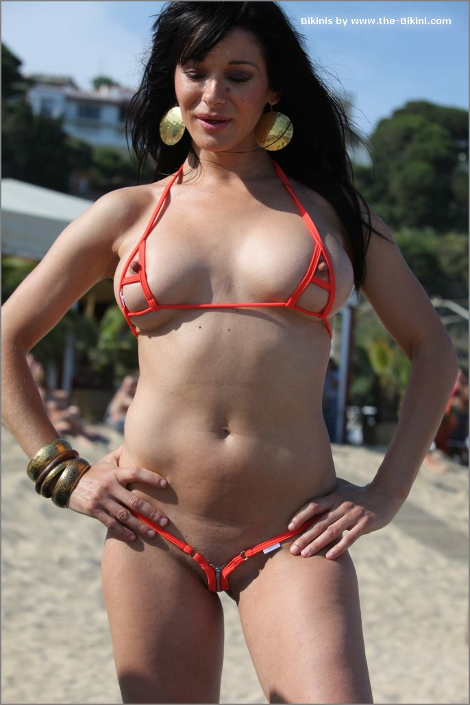 the bikini photos swin p ex zip orange bikini011