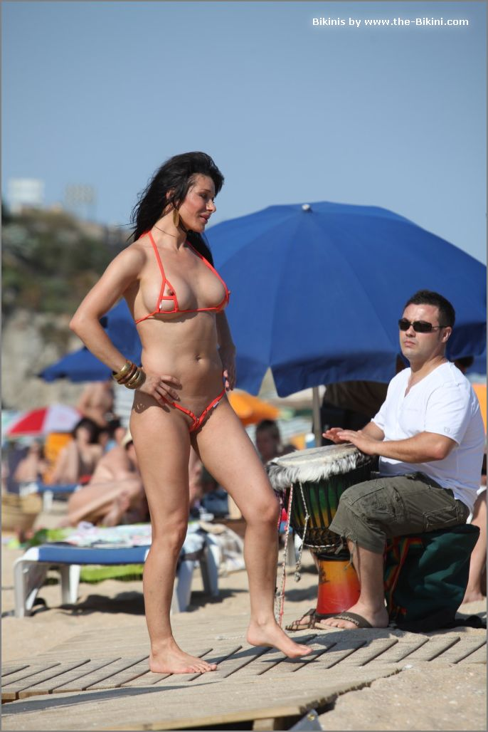 the bikini photos swin p ex zip orange bikini012