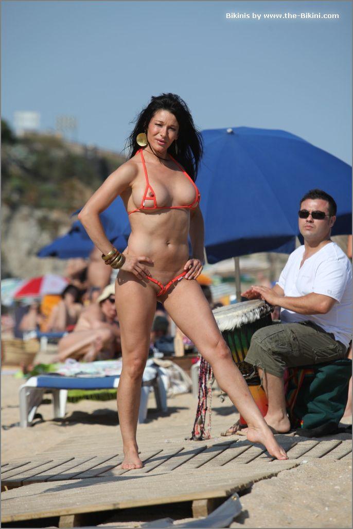 the bikini photos swin p ex zip orange bikini014
