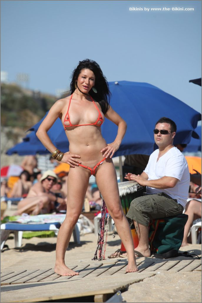 the bikini photos swin p ex zip orange bikini016