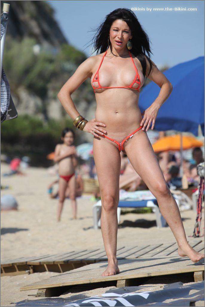 the bikini photos swin p ex zip orange bikini017