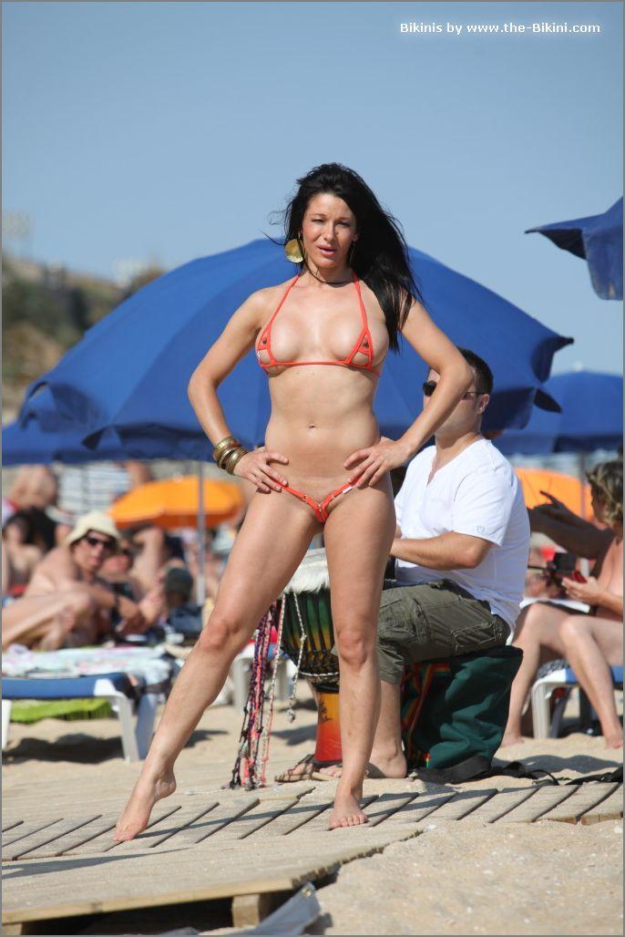 the bikini photos swin p ex zip orange bikini019