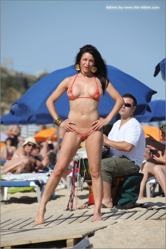 the bikini photos swin p ex zip orange bikini020