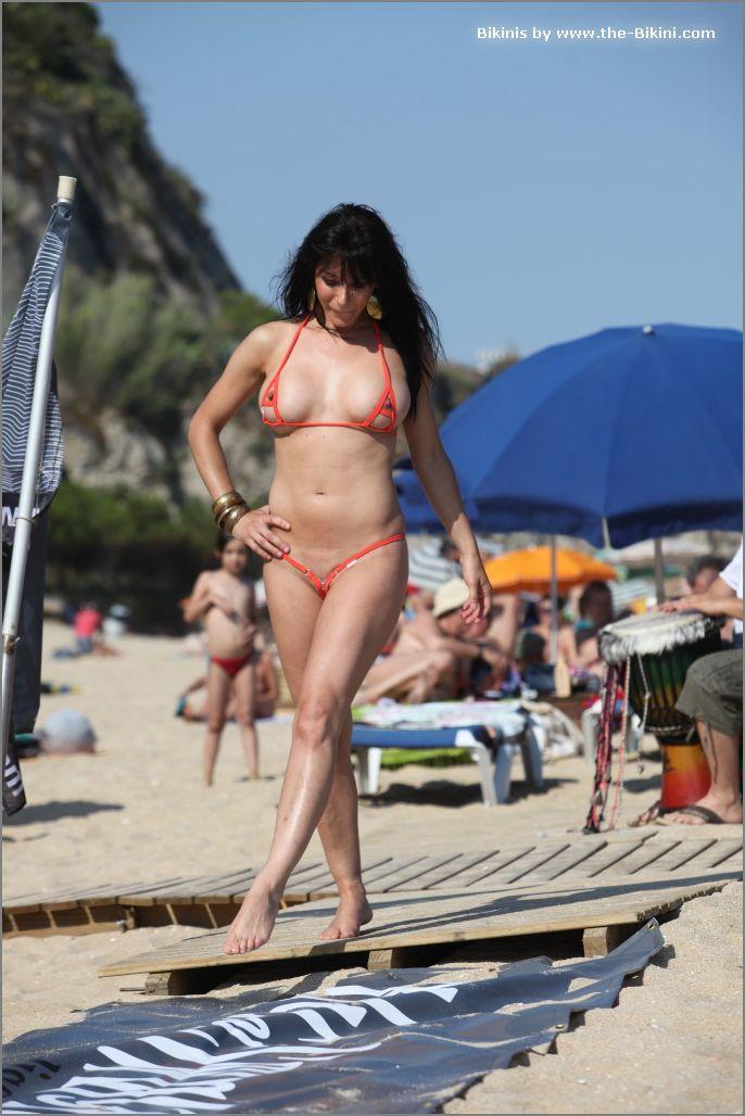 the bikini photos swin p ex zip orange bikini022