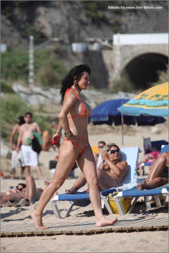 the bikini photos swin p ex zip orange bikini023