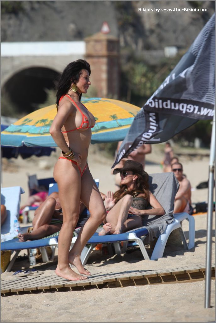 the bikini photos swin p ex zip orange bikini024