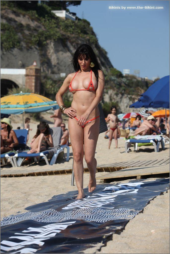 the bikini photos swin p ex zip orange bikini025