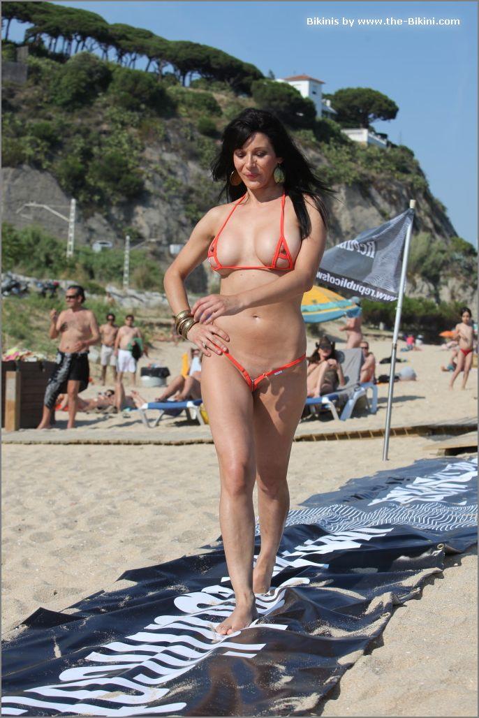 the bikini photos swin p ex zip orange bikini026