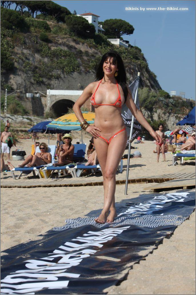 the bikini photos swin p ex zip orange bikini027