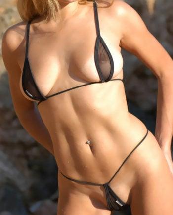 tear drop bikini set sheer black product
