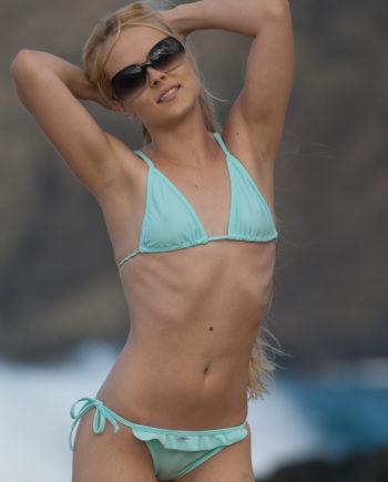 Ruffled Brazilian Bikini bluesky product ashley hobbs