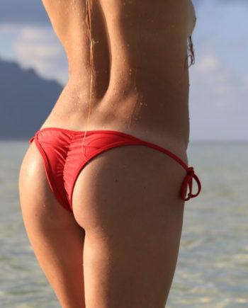 Scrunch Bikini Brazilian red bikini product thebikini